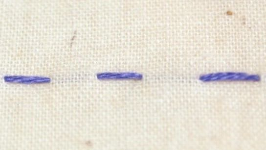 One of the most basic hand embroidery stitches, the running stitch - and it's very versatile!