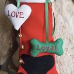 DIY Christmas Paw Print Stocking for My Dog