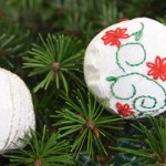 Sewing an Embroidered Christmas Ball Ornament