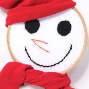 Make an embroidery hooped snowman for your wall!