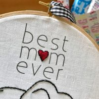Mother's Day Embroidery Hoop Art